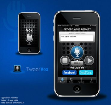 TweetVox iPhone reDesign by Remworks
