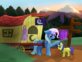 Trixie's soft side (MLPFiM with Dialog) by NiegelvonWolf