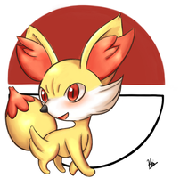 Fennekin (18th work) by KeiEiji
