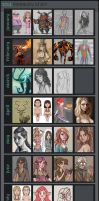 2014 Summary of Art by Pseudolonewolf