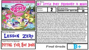 My little Pony Friendship is Magic Season 2 Review by XaldinWolfgang