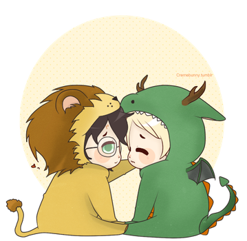 Chibi Drarry - Babies by Cremebunny