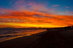 Sunset in Salou 2 by Haiburidd0