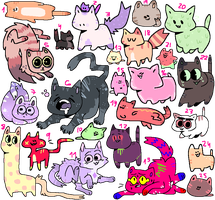 lovely cattos adoptables ! ( 18/25 ) open o w o by mustard0
