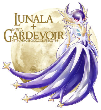 Lunala x Mega Gardevoir [closed] by Seoxys6