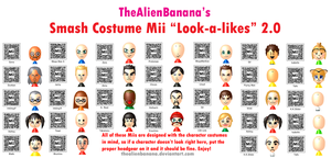 New and Improved Smash Costume Miis! by TheAlienBanana