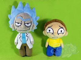 Rick and Morty Chibi Plush by FeatherStitched
