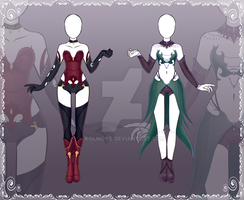 [Close] Adoptable Outfit Auction 26-27 by Kolmoys