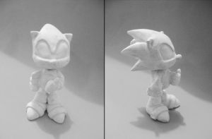 Mini Sonic sin pintar by vrlovecats
