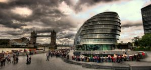 London Bridge and Co HDR by wreck-photography