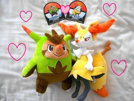 My Quilladin + Braixen Plushies 83