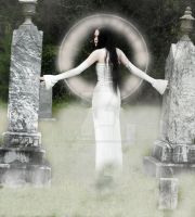 Final Goodbyes (her ghost in the fog) by GothicRavenMidnight
