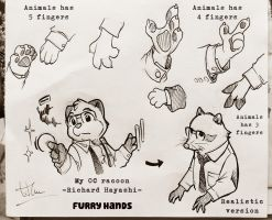 My OC - Furry Hands by doraemonbasil