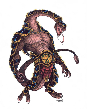 Rattlor - MOTU Redesign (2005) by CJEdwardsArt