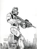 halo 2 sketch by KidCurious