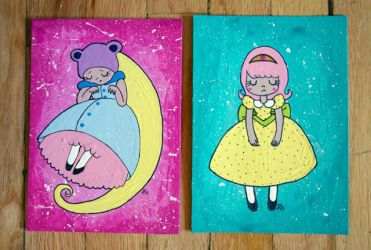 Cute girly paintings by weirdklown