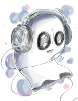 Napstablook by SuperG0blin