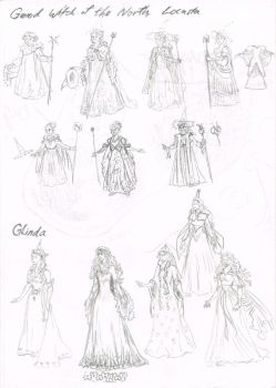 Good Witches of Oz Character Designs by Hand-Sam-Art