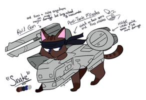 supersonic metal gear cat! by corgisaurus