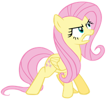 Angry Fluttershy by CultLeaderFluttershy
