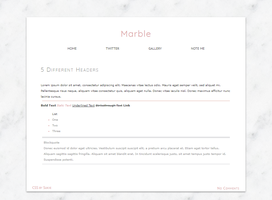Marble/Rose Gold Journal Skin by Sukiie