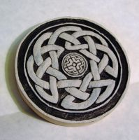 Carved Celtic Tree Of Life under painting by Clisair