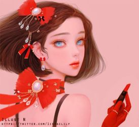 red lily _face by lily-nuga