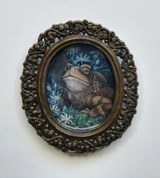 Earth Day Charity Auction - Toad Portrait by thedancingemu