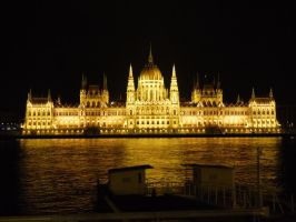 Hungarian Parliament at night by cpmcpm13