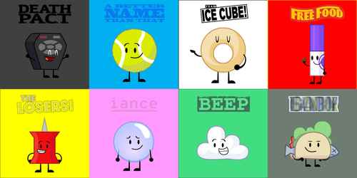 My Favorite BFB Characters On Each Team by objectshowfan543
