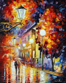 Stroll Under The Moon by Leonid Afremov by Leonidafremov
