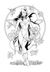 Scarlet Witch - Ink by Almayer