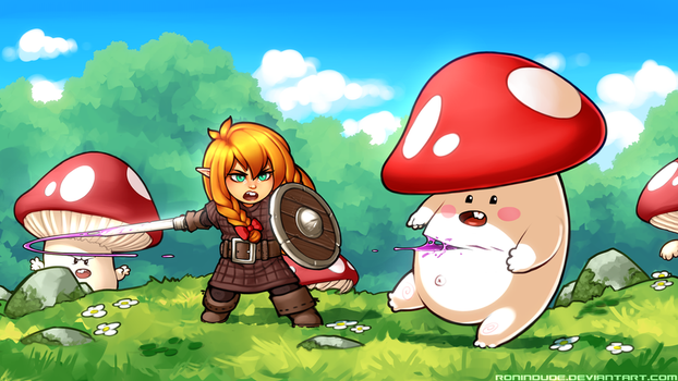 Little Chopper vs Mushroom Dudes by RoninDude