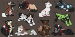 Wolf Adoptables OPEN by WoofMewMew