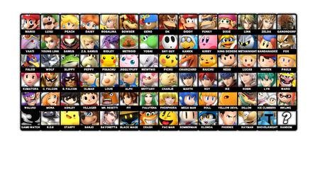 SSB Dream Roster by PaperMario16