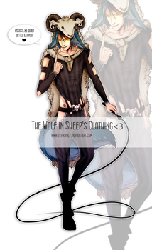Wolf in Sheep's Clothing- adoptable [sold] by ZerkWolf