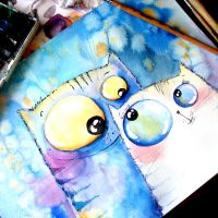 lovely cats by bemain