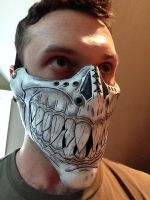 Leather Sharp tooth grin mask by Skinz-N-Hydez