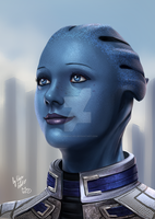 Liara's smile by ElynGontier