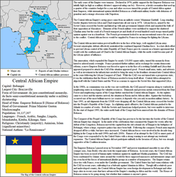 The Central African Empire, 2018 by CHIPMUNKEN