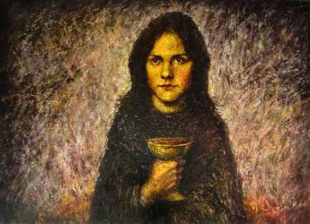 Girl with the Cup by inner