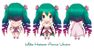 Miku Hatsune Aurora Version by Akuo-art