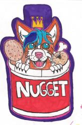 Kentucky fried Nugget by WolfgangtheHusky
