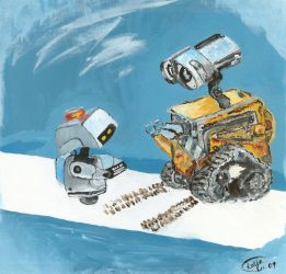 wall.e + mo by CrazyIdea-Inc