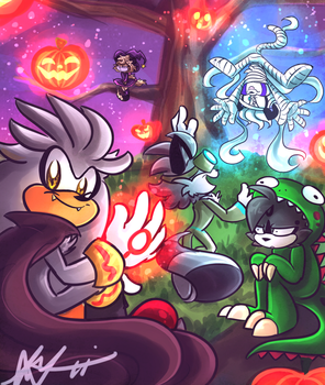 AT: Stripe's Halloween by Blossom-fur7