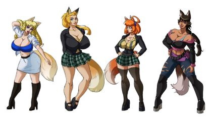 Working Girl- Casual Outfit Foxgirl Set by SpiralingStaircase