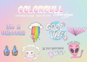 colorfull overlays   pngs archive by Burn-the-life