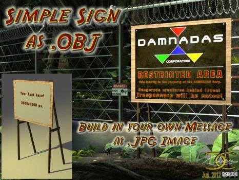 Simple sign as OBJ by ancestorsrelic