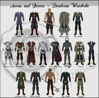 Dendroan outfits: Aeran and Beeren by spadiekitchenqueen