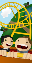 a rollercoaster ride by wetflame